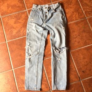 Distressed American apparel jeans